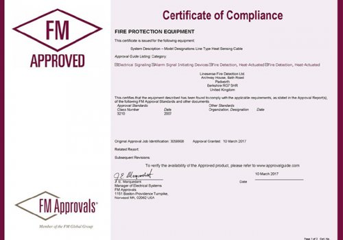 Linesense LHDC have Achieved FM Approval